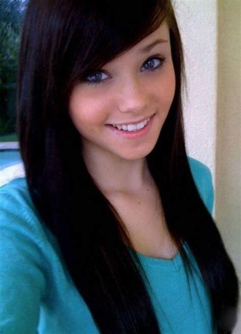 pt beautiful 18 25yo models normal teenage girl with black hair hair pinterest
