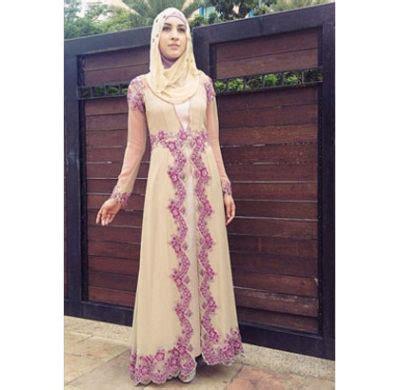 macam macam model baju muslim dri bahan brokat contoh model gamis brokat terpopuler 2017 citra muslima