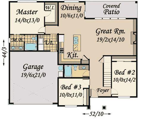 split bedroom ranch with bonus 3653dk 1st floor master 3 bed craftsman ranch with 3 beds and bonus 85119ms