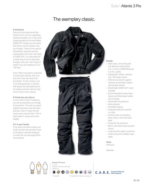 Bmw Motorrad Gloves Size Chart by Bmw Atlantis 3 Leather Bike Trousers Eu 44 16 Ebay