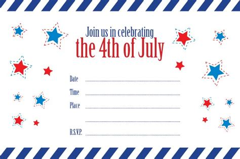 patriotic invitation templates free 5 best images of july 4th templates free printable july