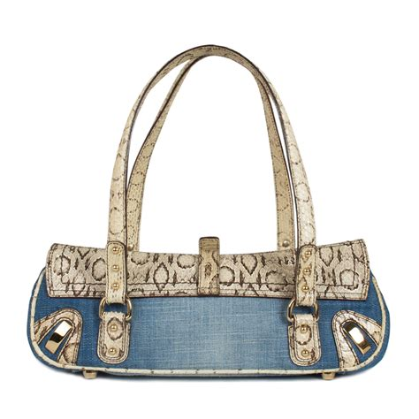 Dolce And Gabbana Denim Purse by Dolce Gabbana Denim And Python Shoulder Bag Labelcentric