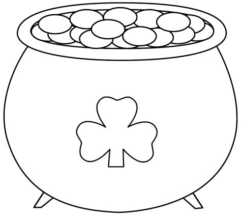 Pot Of Gold Coloring Page Google Search Incentive St Day Color Sheets