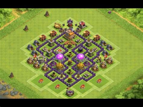layout cv 7 farming youtube clash of clans layout cv 7 farm push ep 9 youtube