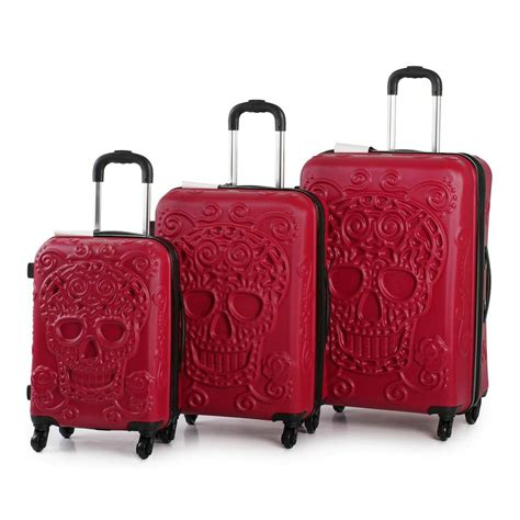 Solid Luggage Padlock Series R 7819 Colour it luggage skull emboss shell suitcase 3pc trolley set spinner blood r ebay
