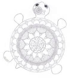 Mandala Turtle Coloring Page  FaveCraftscom sketch template