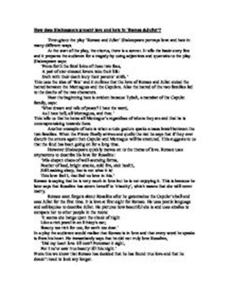 romeo and juliet hate theme essays romeo and juliet love vs hate essay writefiction581 web