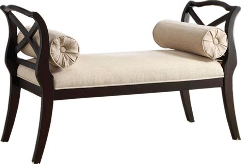 curved upholstered bench upholstered bench with pillows ivory padded fabric seat