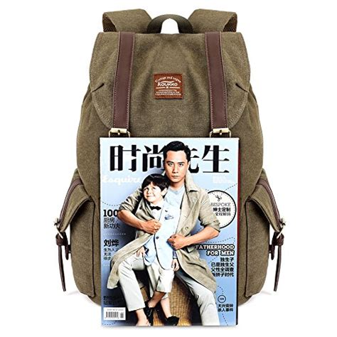 army bookbags vintage canvas backpack kaukko outdoor travel hiking