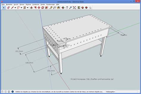 Stuhl 3d Zeichnen by Werktisch S 228 Getisch Bauen Tueftler Und Heimwerker
