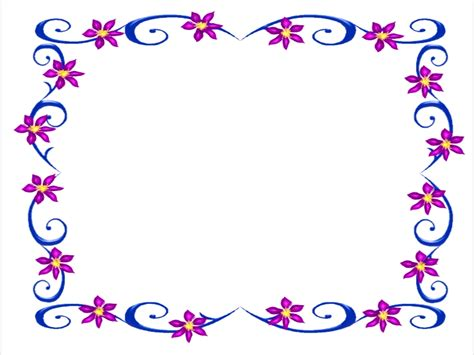 microsoft powerpoint clipart free microsoft clip borders cliparts co purple flowers