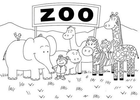 printable zoo coloring pages coloring me
