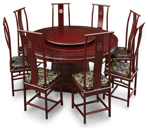 66in rosewood ming design dining table with 8 chairs