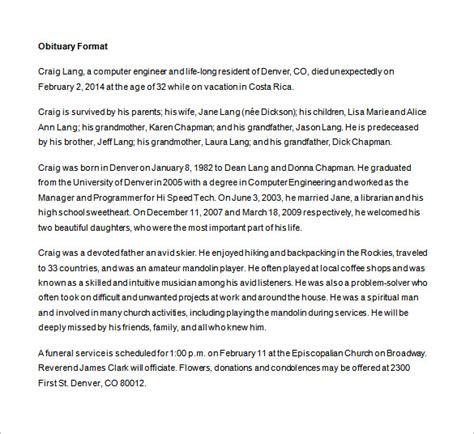 obituary template obituary template obituary template