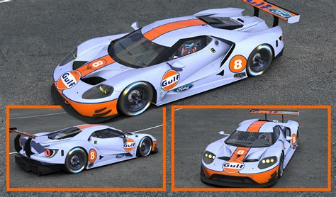 Gulf Ford Gt by Ford Gt 2017 Gulf By Clyde Coman Trading Paints
