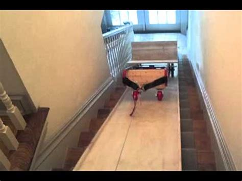 how to move a couch upstairs move equipment upstairs with atv winch youtube