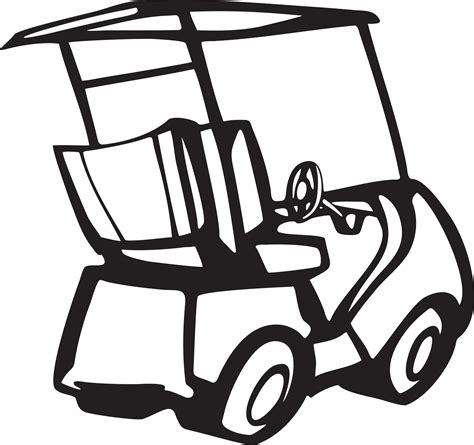 golf clipart black and white golf cart clip black and white clipart panda free