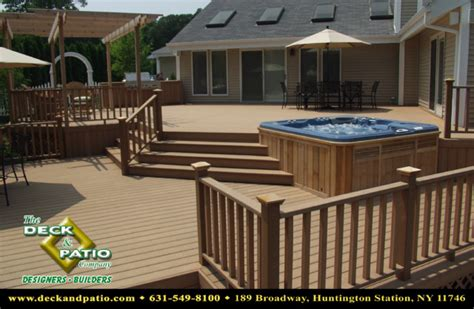 The Deck And Patio Company by Wood And Composite Decks Trex Timbertech Azek Deck
