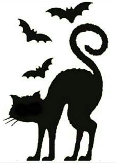 black cat templates for halloween cat silhouette template happy images