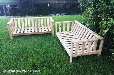 diy outdoor sectional sofa plans diy outdoor couch myoutdoorplans free woodworking