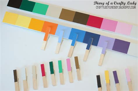 diary of a crafty paint stick paint chip color matching