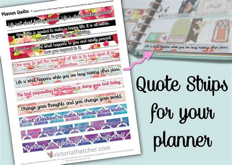 printable quotes planner planner freebie better than washi filofax