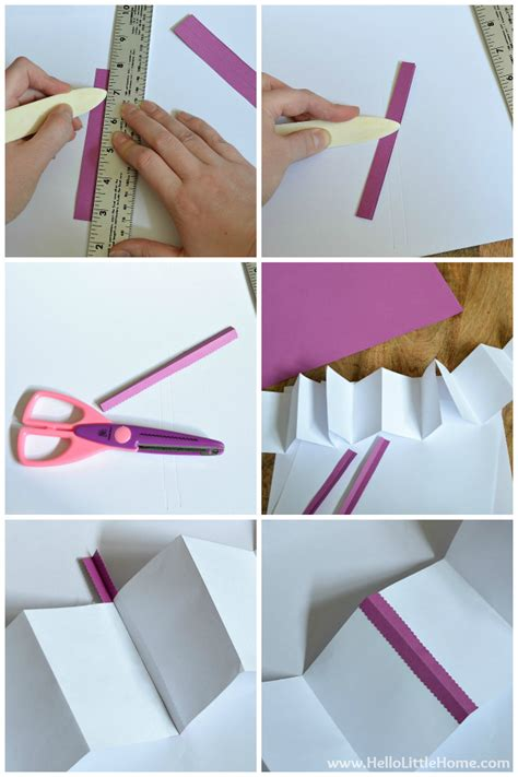 How To Make A Paper Accordion - diy s day accordion book