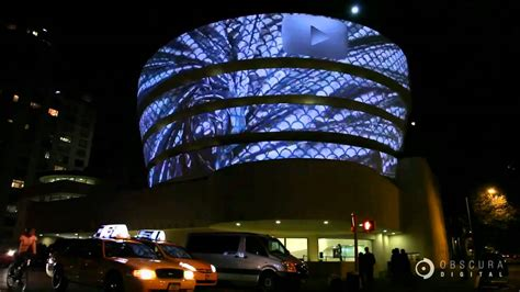 oscura digitale guggenheim projection by obscura digital nyc