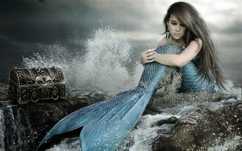 themes sad girl real life mermaid girls photography with photoshop