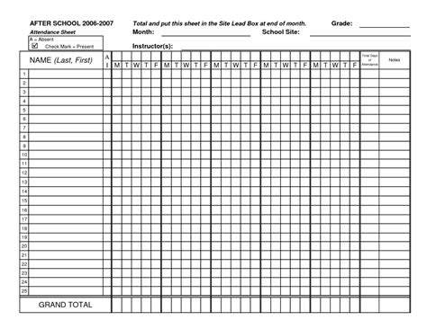 employee attendance sheet template printable daily employee attendance sheet in excel