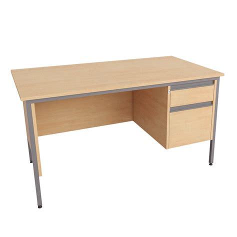 single pedestal desk 2 drawer