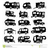 Recreational Vehicles Icons Stock Vector  Image 40494474