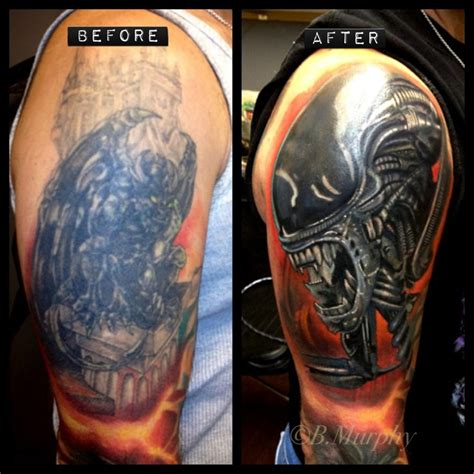 cover up over large dark tattoo third dimension tattoos