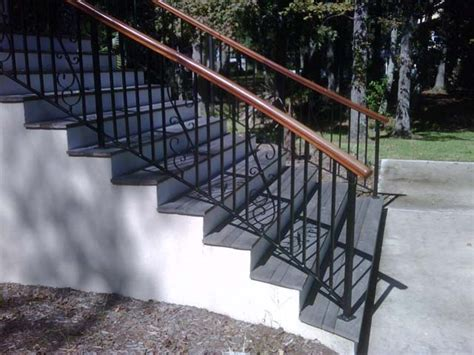 outdoor banister outdoor handrail fabrication