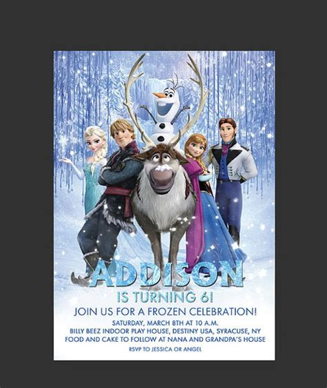 frozen printable editable invitations disney frozen birthday party invitation editable psd