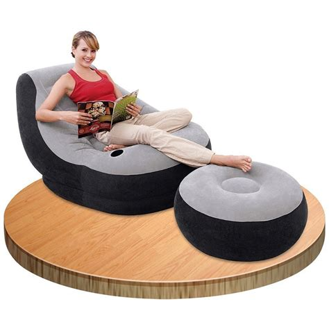 inflatable chair and ottoman inflatable large gaming chair ultra lounge with ottoman