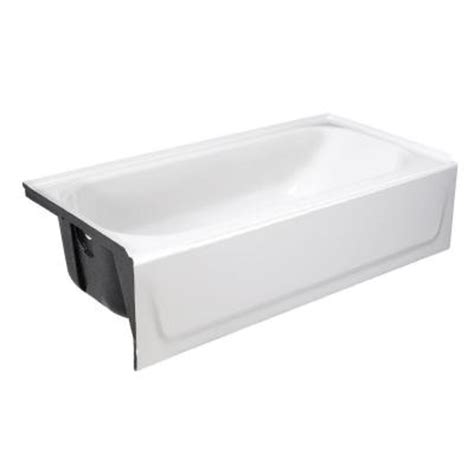 bootz bathtub installation bootz industries mauicast 5 ft left drain soaking tub in