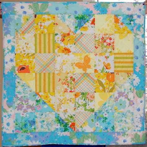Heart Shaped Quilt Pattern | heather kojan quilts vintage sheet heart shaped baby