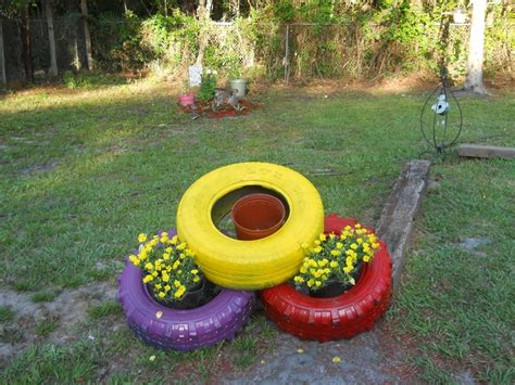 painted tires crafts gardens tire