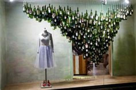 wine store decor on wine cellar window