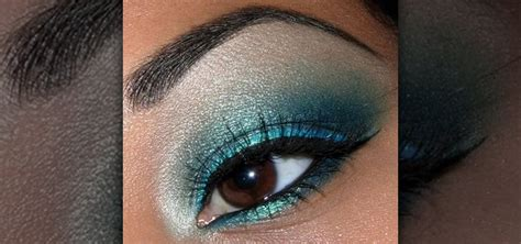 Eyeshadow For how to create a shimmery turquoise blue eye makeup look 171 makeup wonderhowto