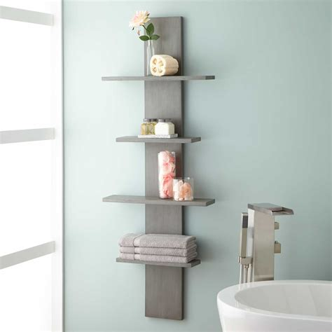 Shelving In Bathroom Wulan Hanging Bathroom Shelf Four Shelves Gray
