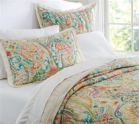 paisley quilt bedding bethany paisley quilt sham pottery barn