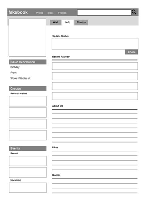 character card template drama social media fakebook profile template by drama trunk
