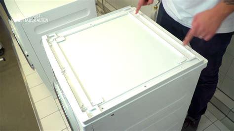 kann wã schetrockner auf waschmaschine stellen wie kann ich eine s 228 ule aus trockner und waschmaschine