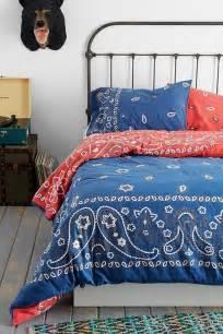 Paisley Duvet Cover Blue Bandana Paisley Comforter Or Duvet Cover On The Hunt