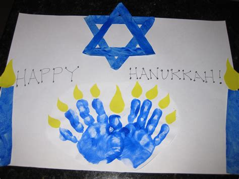 hanukkah craft projects handprint menorah family crafts