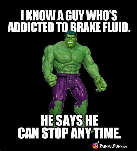 hulk memes incredible hulk jokes monstrous green puns  painfulpunscom