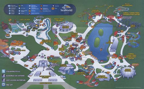 seaworld texas map theme park brochures sea world san antonio theme park brochures