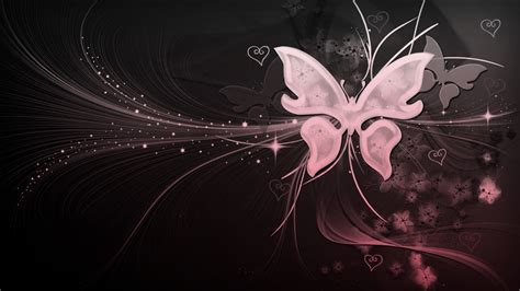 black and white butterfly wallpaper black and white and pink butterfly with hearts by
